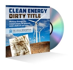 Clean Energy, Dirty Title: Working through title complications Webinar Recording