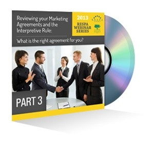 Part 3: Reviewing your Marketing Agreements and the Interpretive Rule Webinar Recording