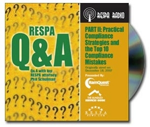 RESPA Q & A Compliance Strategies CD