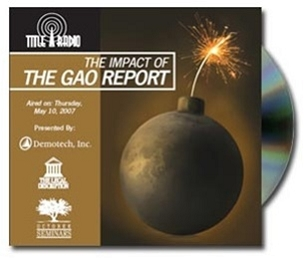 The Impact of the GAO Report CD