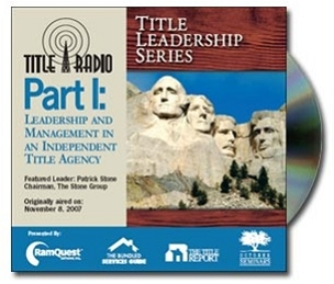 TLS: Leadership and Management in an Independent Title Agency CD