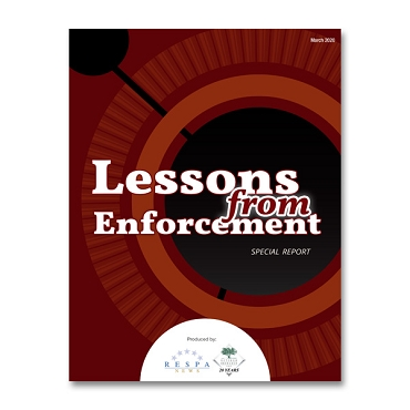 Lessons from Enforcement Special Report